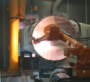 Coating of hot gas housings for gas turbines
